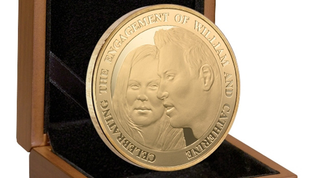 william and kate engagement coin