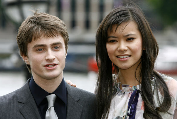 "Actors Radcliffe and Leung pose during photocall to promote film ""Harry Potter and the Order of the Phoenix"" in London"