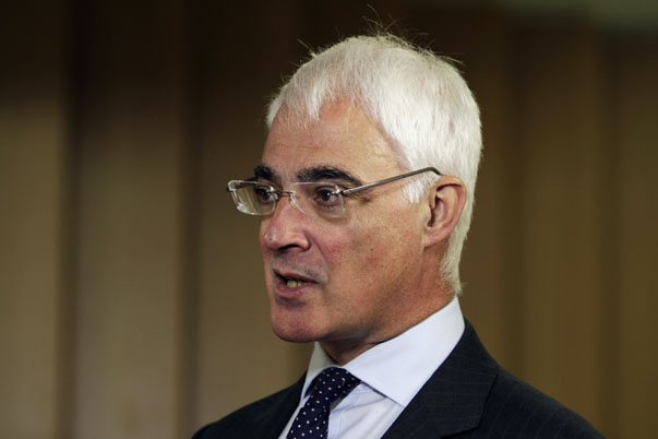 Alistair Darling, head of the Better Together anti-secessionist campaign and former British finance minister, answer questions during an interview with Reuters in London