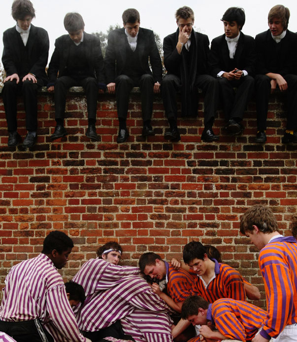The Traditional Wall Game At Eton