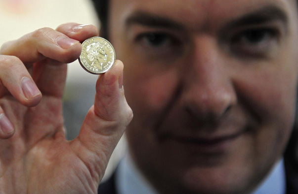 Chancellor of the Exchequer, George Osborne Visits Cardiff Royal Mint