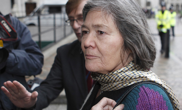 Britain's former International Development Secretary Clare Short arrives to give evidence to the Iraq War inquiry in London