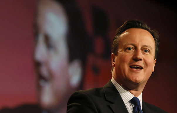 Britain's Prime Minister David Cameron speaks at the British Chambers of Commerce annual meeting in central London