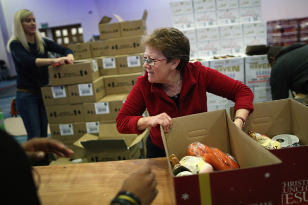 The Trussell Trust Foodbank Project Assemble 1500 Christmas Dinner Hampers For Those In Need