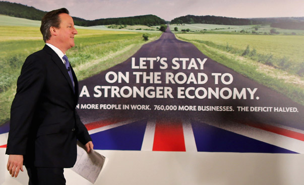 Prime Minister David Cameron Launches A New Conservative Poster