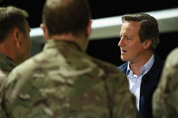 Prime Minister David Cameron Visits RAF Base In Cyprus