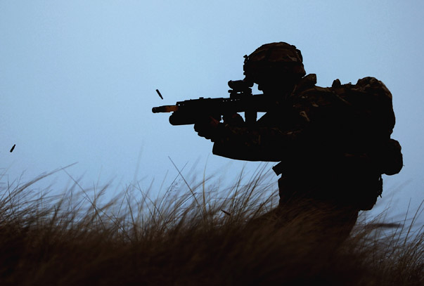 Royal Marines Of 42 Commando Launch An Aviation Beach Assault Exercise From HMS Bulwark