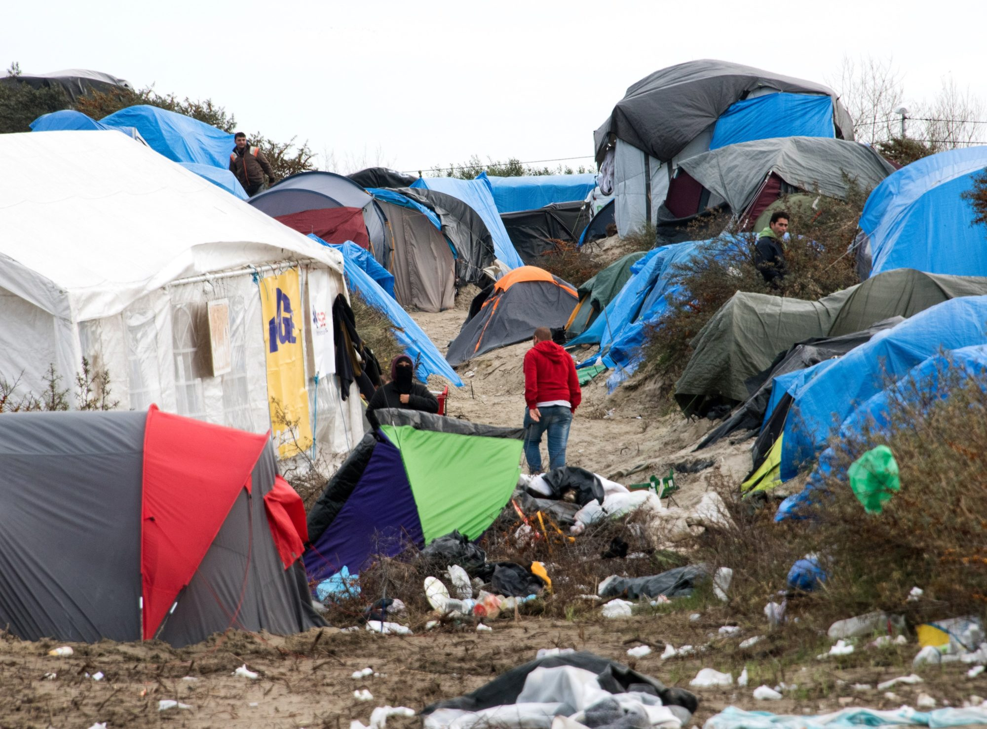Calais Jungle Camp Littered With Asbestos Channel 4 News