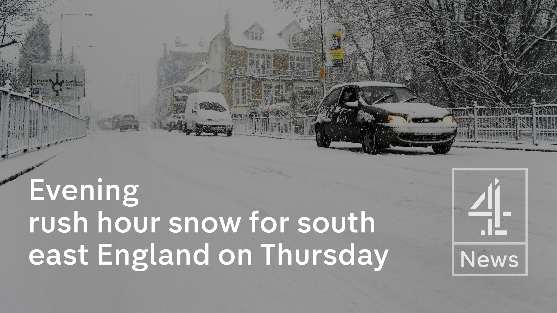 Evening rush hour snow for south east England on Thursday