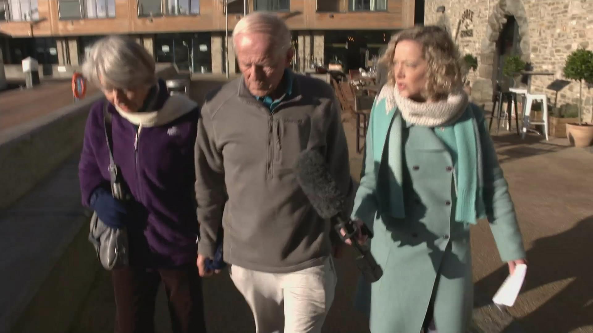 Cathy Newman doorstepping John Smyth