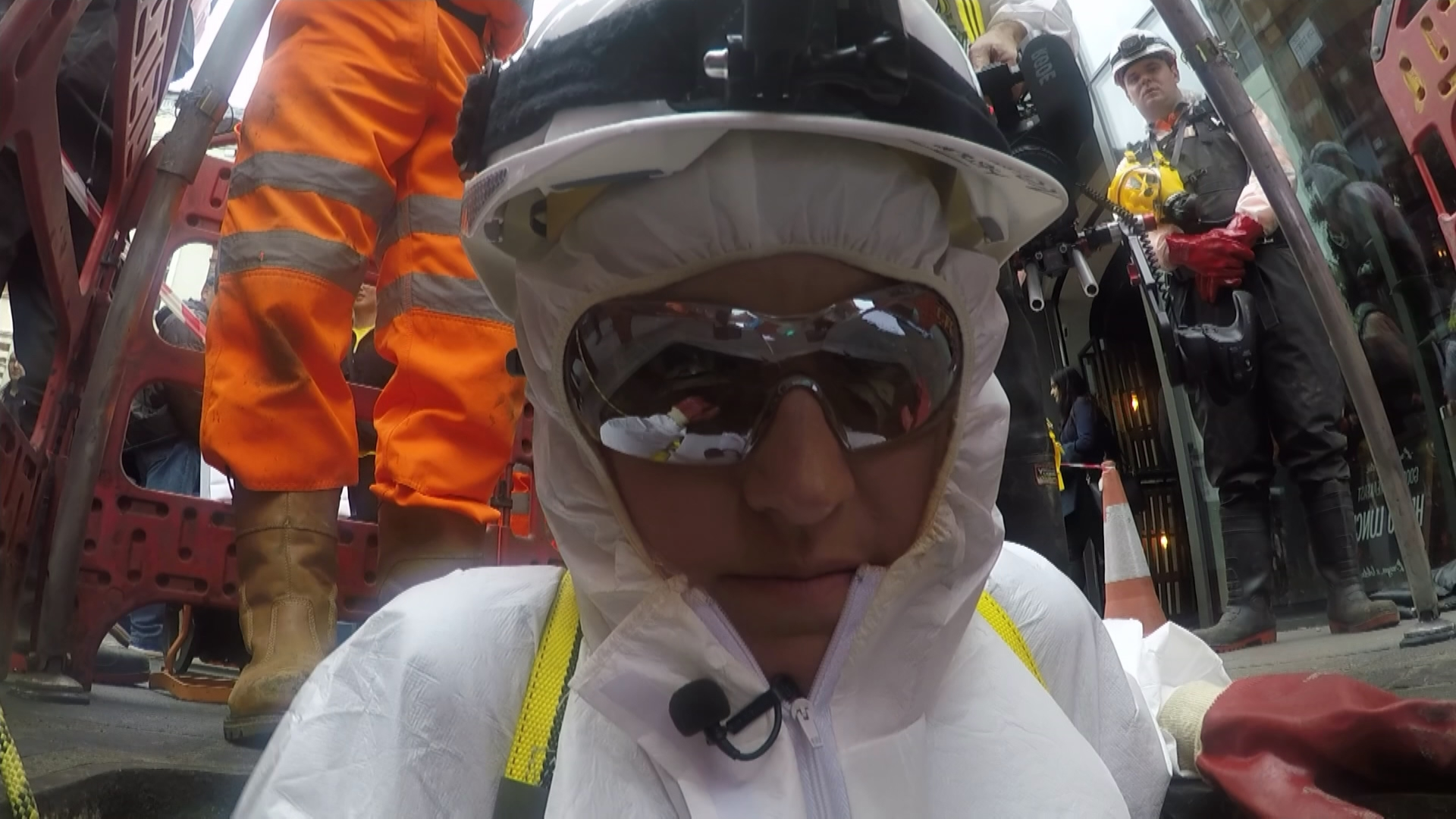"""Cathy Newman going to see the """"fatberg"""""""