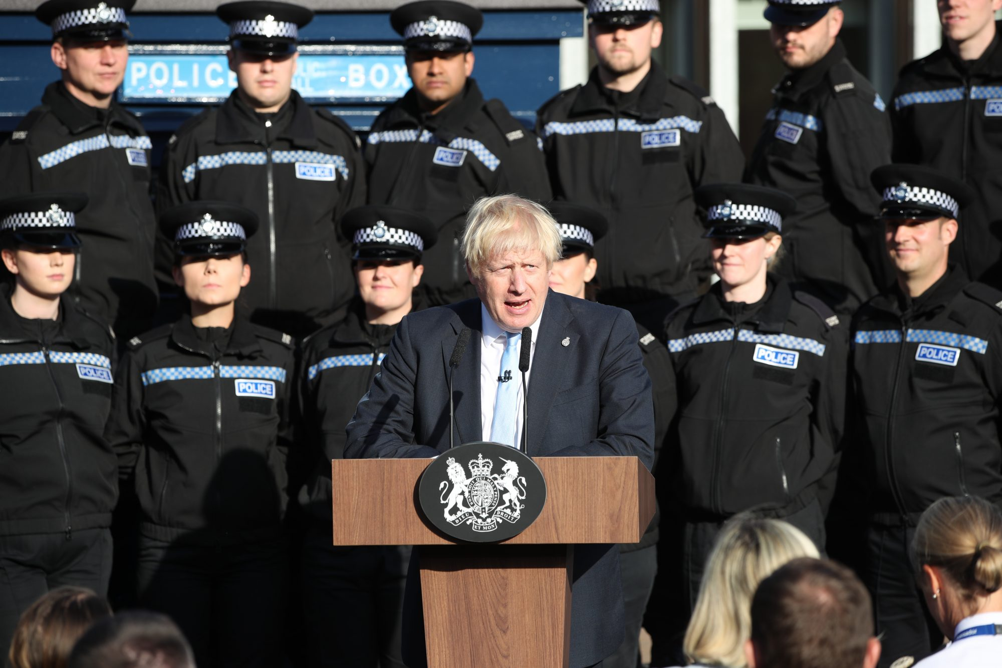 Chief constable 'disappointed' officers used as 'backdrop' by Johnson