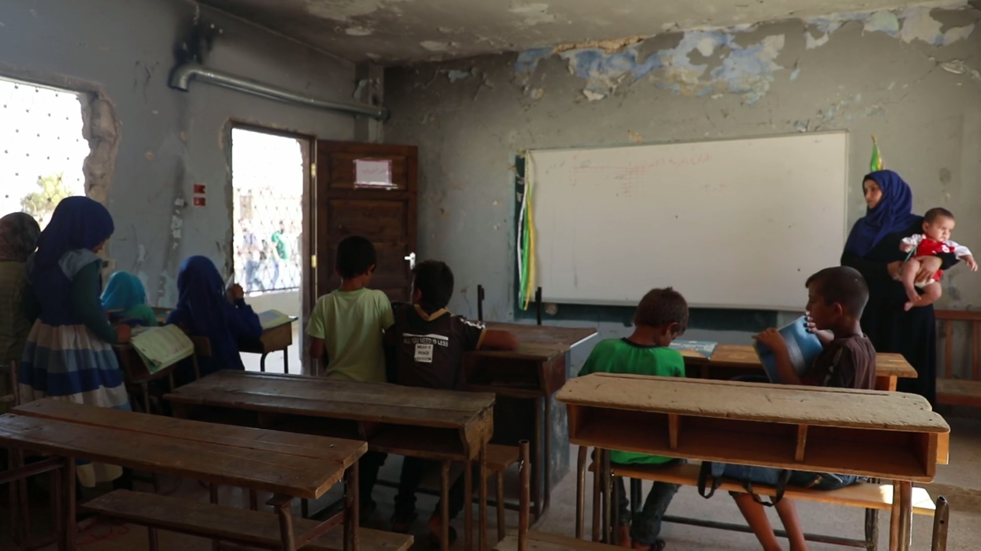 Schools targeted in airstrikes in Syria's besieged Idlib province