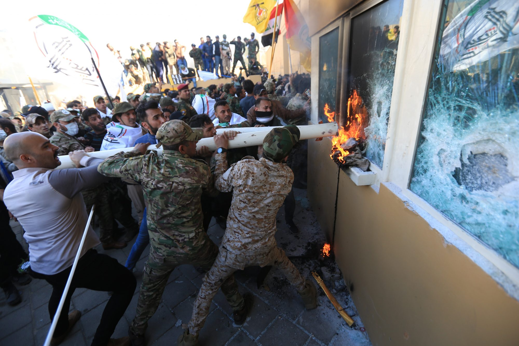 GettyImages 1191101521 2000x1333 - President Trump blames Iran as hundreds storm US embassy in Baghdad – Channel 4 News