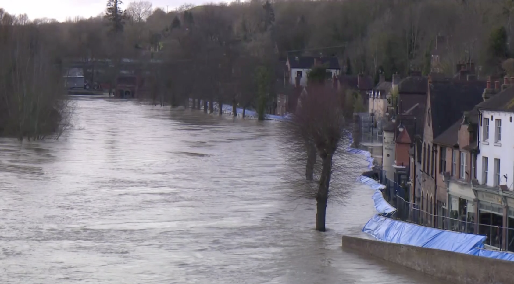 Ironbridge residents evacuated as flood defences breached - channel 4