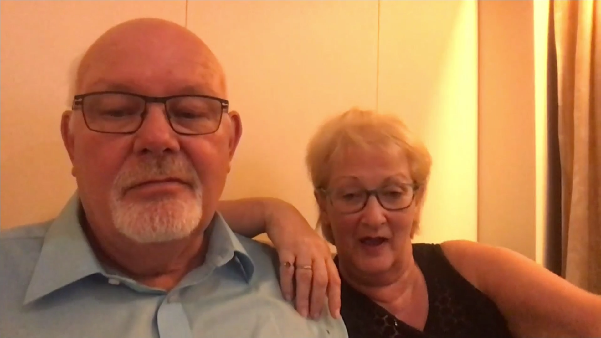 British couple on cruise ship 'may have coronavirus' - channel 4