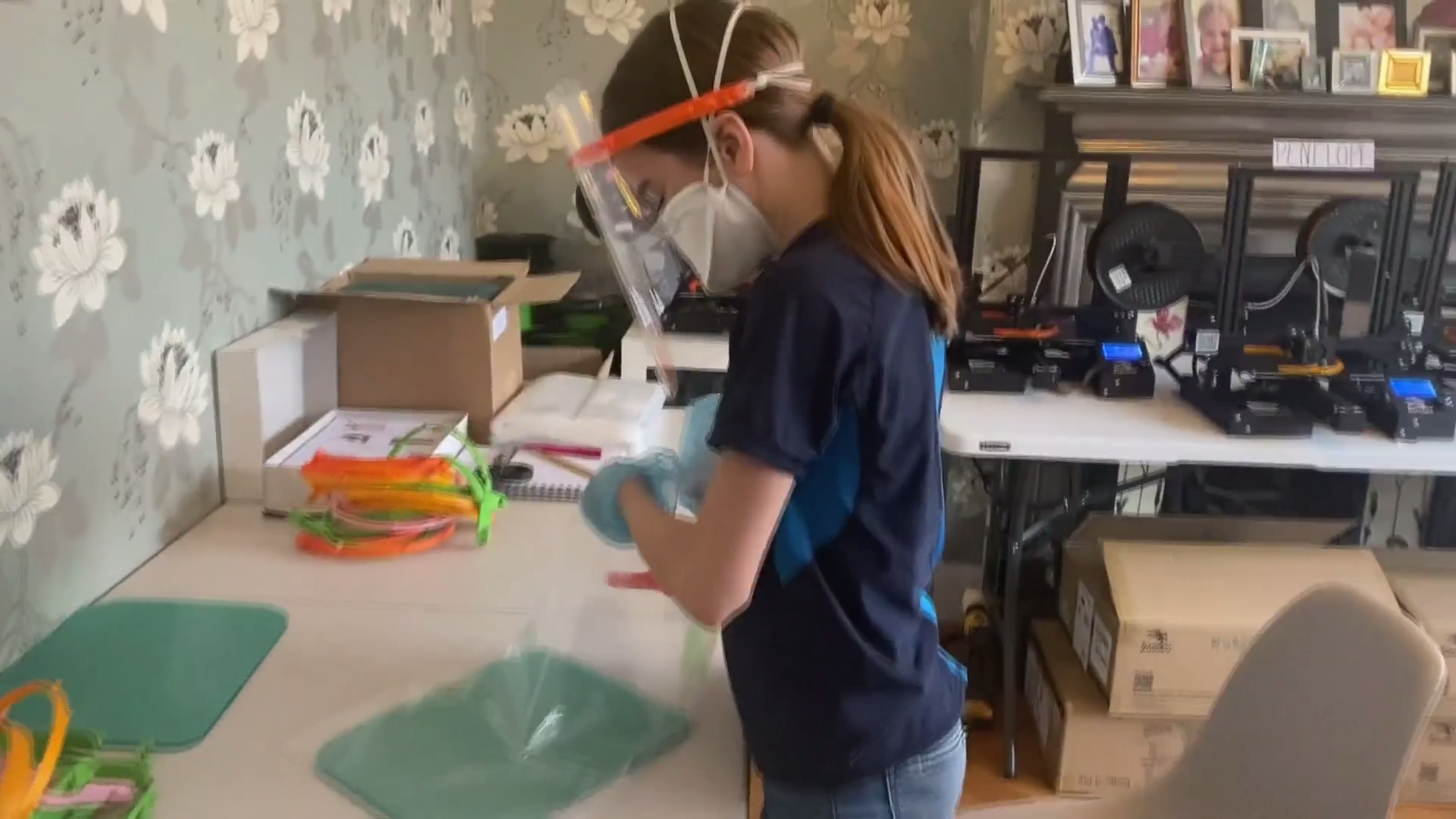 Family transforms home into factory to make visors for NHS - channel 4