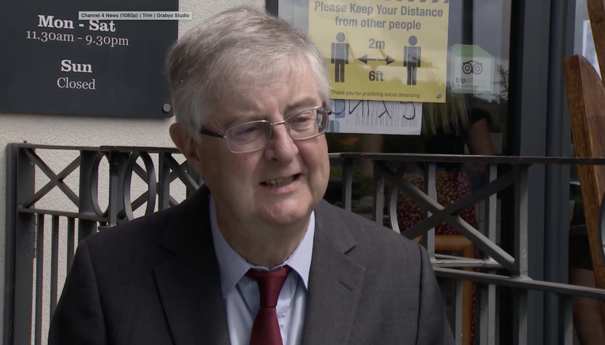Drakeford says people in Wales should not travel to parts of north-west England unless absolutely necessary - channel 4
