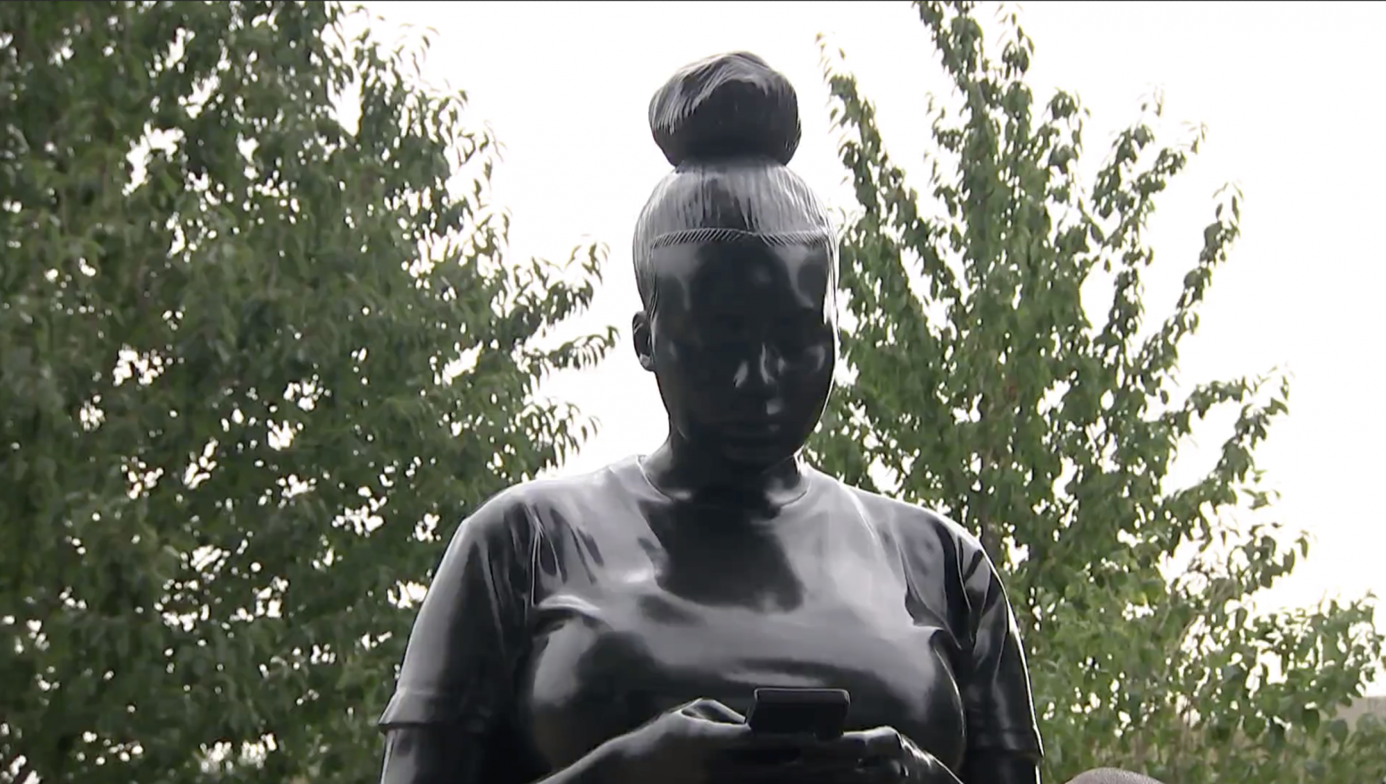New sculpture of black woman one of only three in country - channel 4