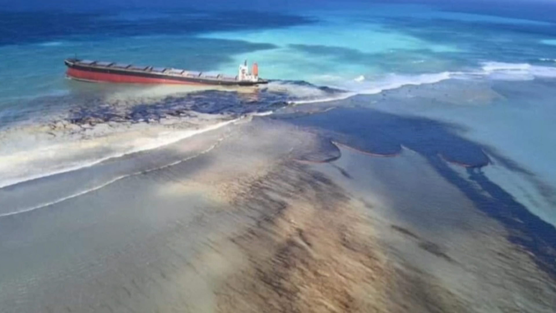 Mauritius declare state of environmental emergency after huge oil spill - channel 4