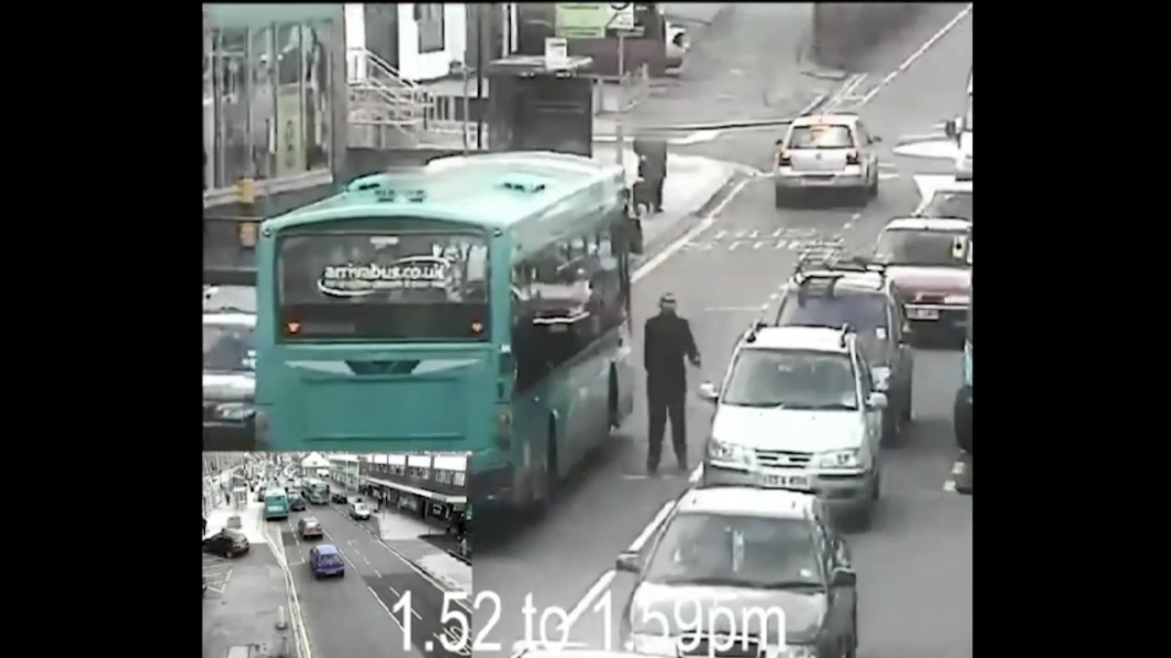 CCTV footage of hours leading up to man's death shown in public for first time