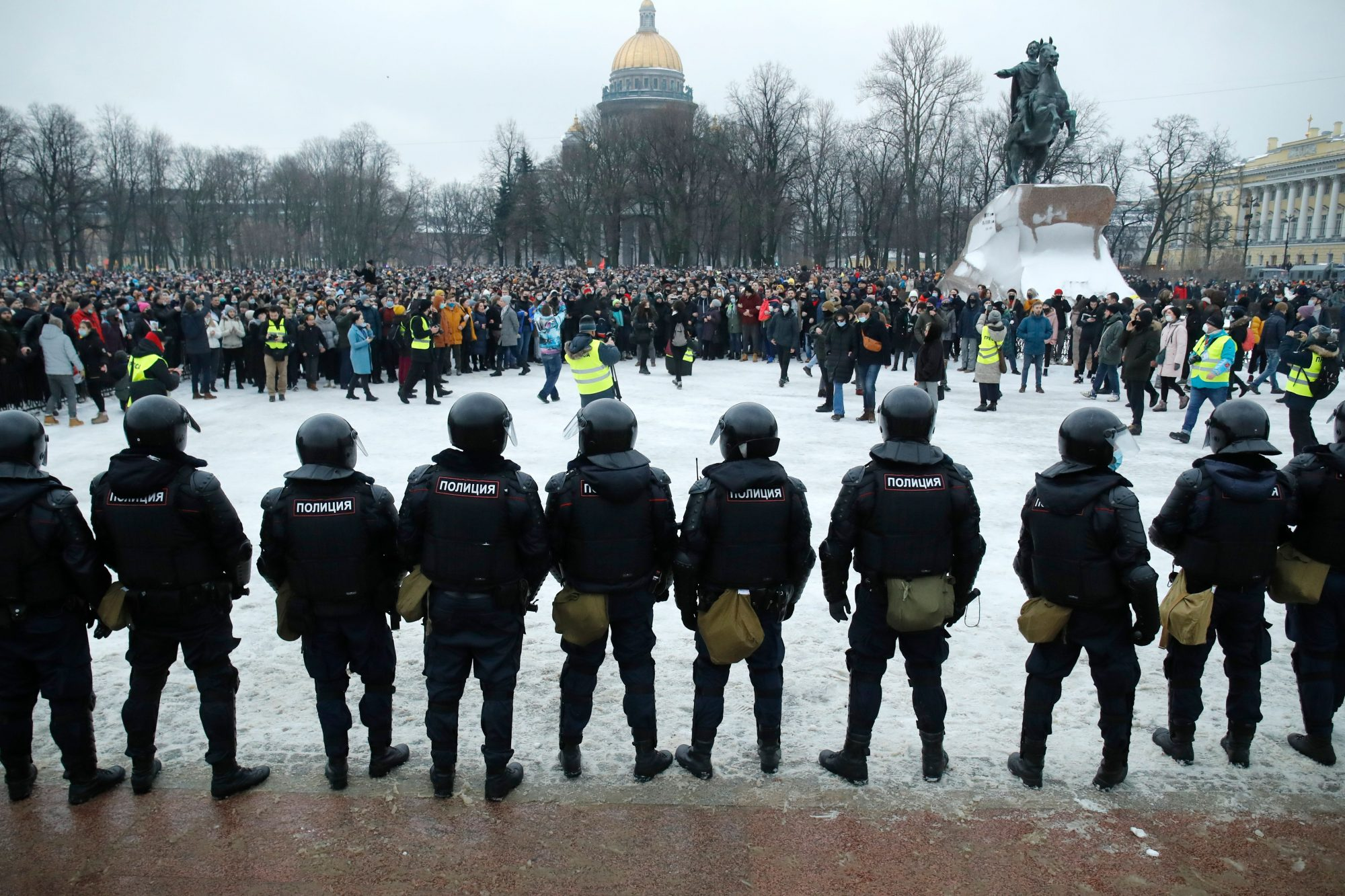 Mass arrests as pro-Navalny protests sweep Russia - channel 4