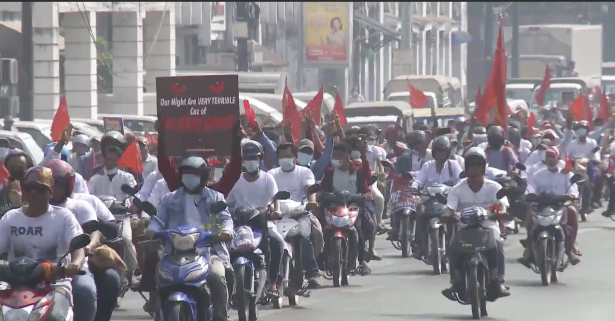 Myanmar anti-coup protesters stage nationwide general strike