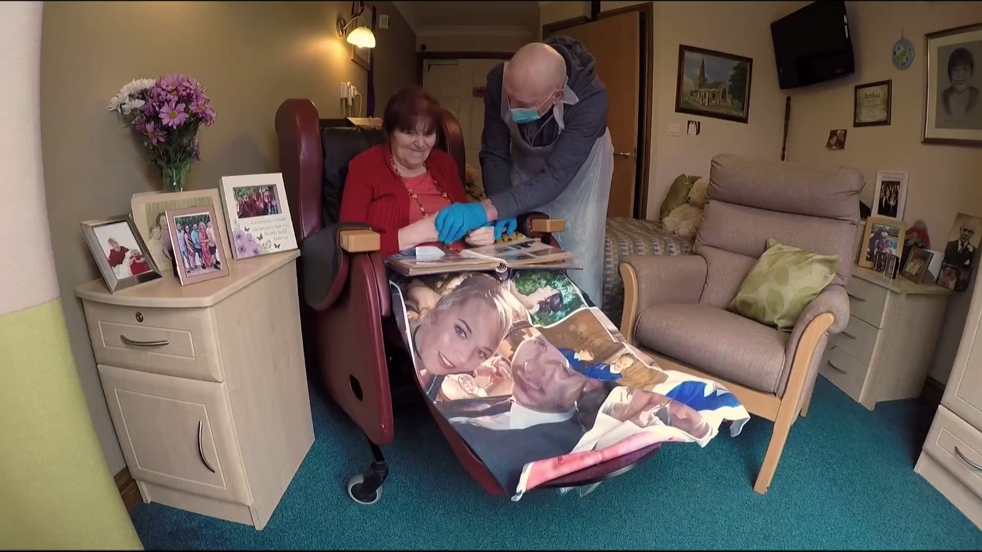 Care home residents in England finally able to meet and hold hands with a loved one - channel 4