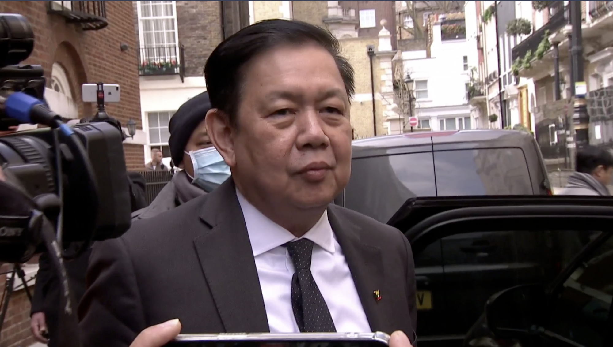 Myanmar: Ex-ambassador says he spent night in car after being locked out of London embassy
