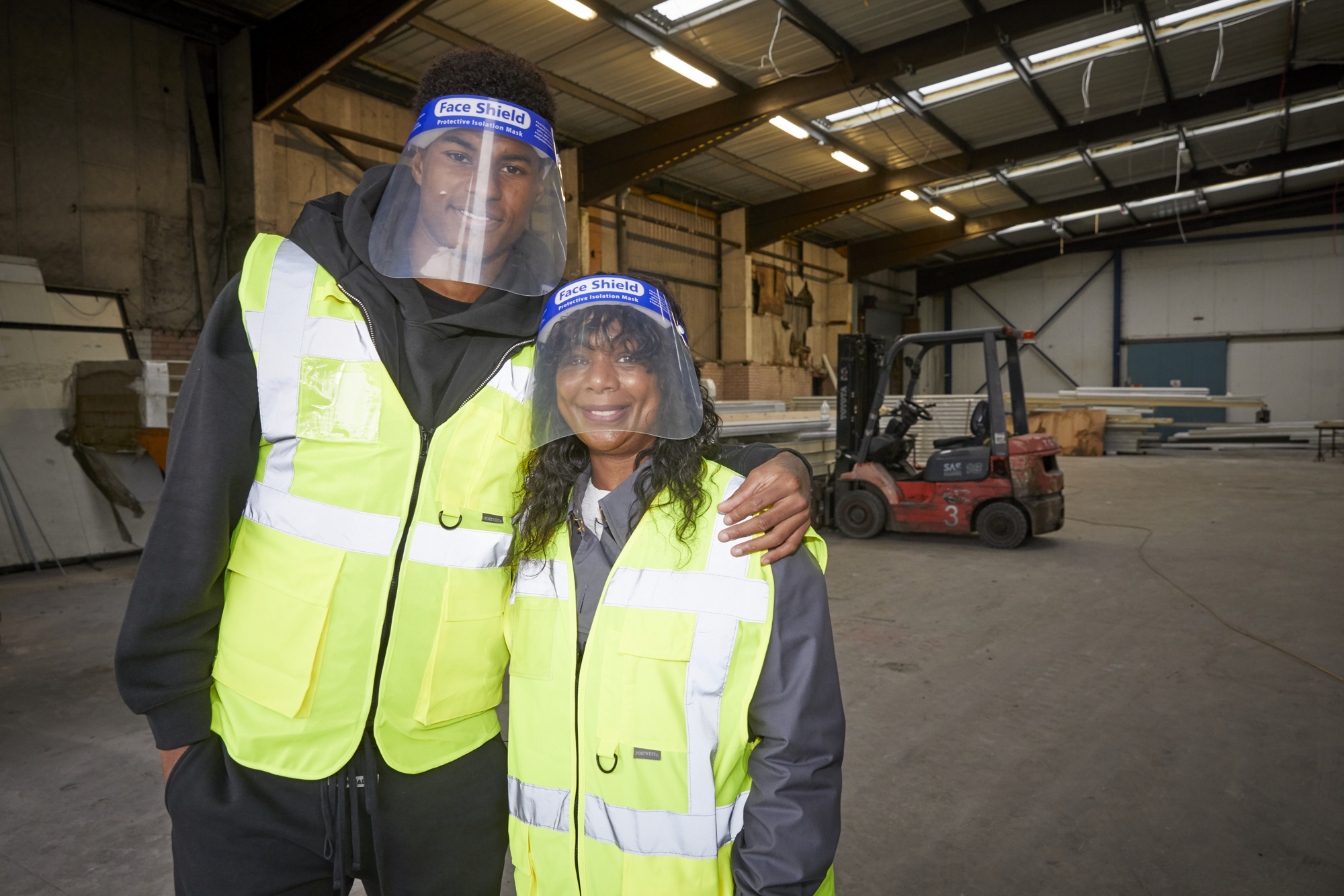Marcus Rashford and his mother