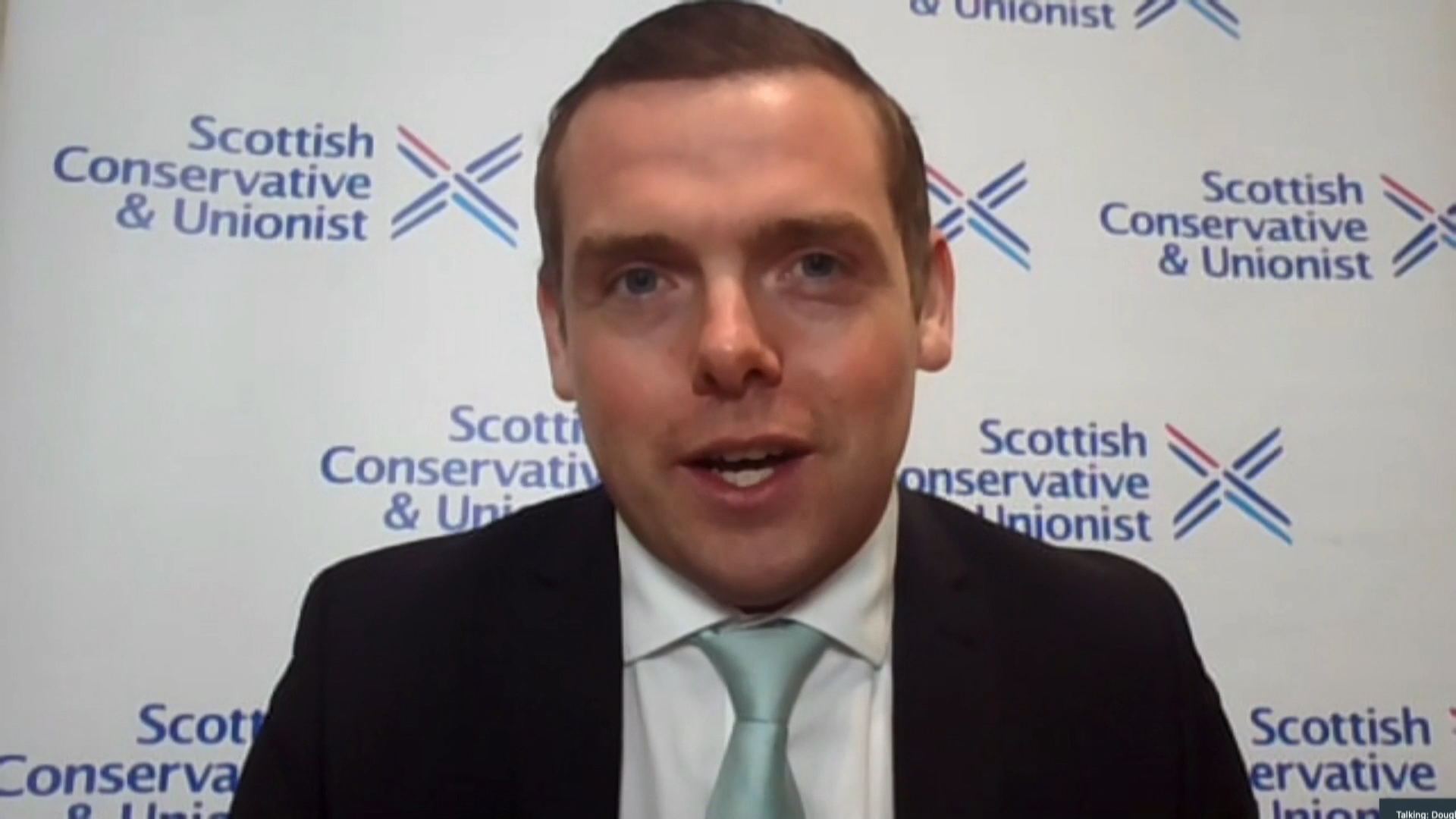 "Scottish Conservatives leader Douglas Ross: ""Of the two successive attempts for Nicola Sturgeon to gain a majority she has failed."" - channel 4"